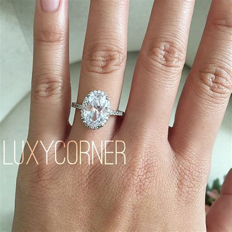 Oval Engagement Rings by Oval Halo Engagement Ring Oval Engagement Ring Wedding Ring