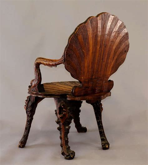 Antique Wooden Armchairs by Antique Wooden Carved Grotto Armchair Circa 1880 At 1stdibs