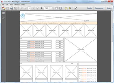 website wireframe templates  word powerpoint