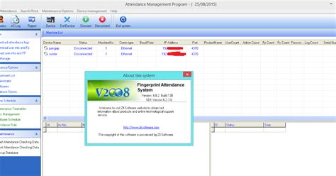 Murah Solution C1 Mesin Absensi Finger Print Absen aplikasi attendance managemant 2008 ver 3 7 1 build 130