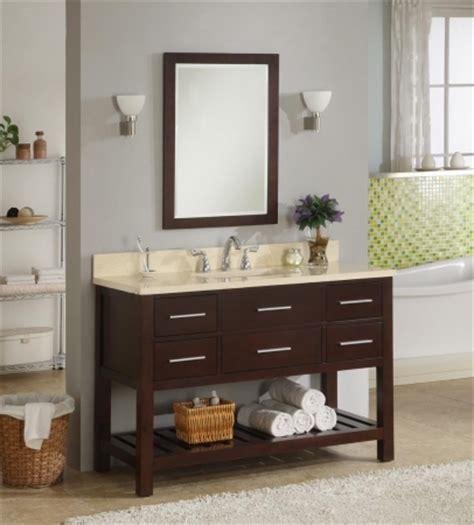 open vanity bathroom 48 inch single sink modern cherry bathroom vanity with open shelf and choice of counter top uveipr48