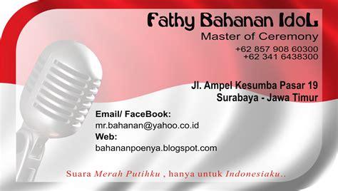 ide desain kartu nama fathy sang idol ehm kartu nama 1 di indonesia