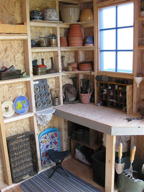 shed interior ideas inside my shed potting shed interiors pinterest