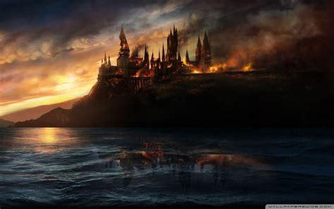 harry potter desktop wallpaper tumblr hogwarts burning wallpaper