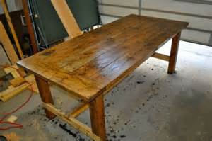 Dining Room Farm Tables distressed farm table vinegar and steel wool diy