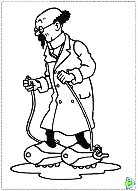 tintin printable coloring pages