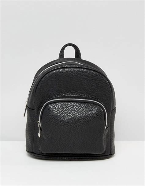 Mini Backpack With Pocket by Asos Asos Mini Backpack With Front Pocket