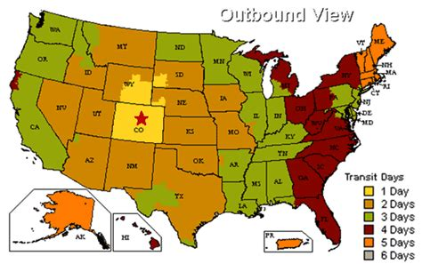 us map denver colorado united parcel service ground map from denver colorado