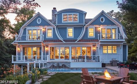 Shingle Style Waterfront Home In Annapolis, Maryland