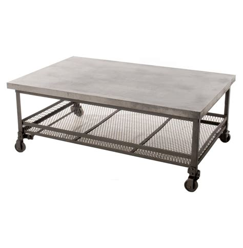 Steel Coffee Table Mercantile Galvanized Steel Industrial Coffee Table Kathy Kuo Home