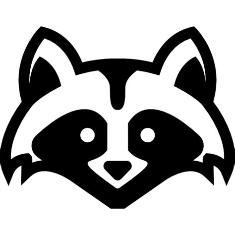 animal head front skunk frontal view face animals icon