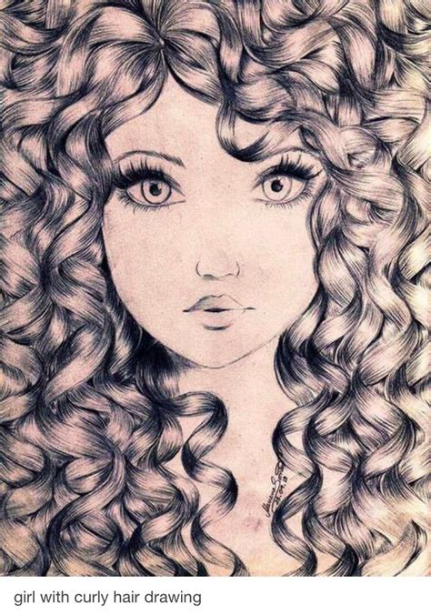 wavy hairstyles drawing pretty face with wild hair drawings pinterest my