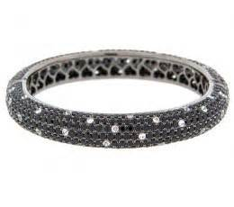 Wst 11021 Chain Necklace Black dilamani jewelry black spinel white sappire bangle