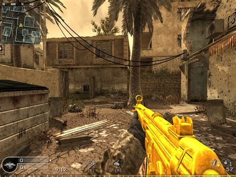 call of duty 4 gold shotgun gold weapon pack ak47 mp5 barret cal 50 call of duty