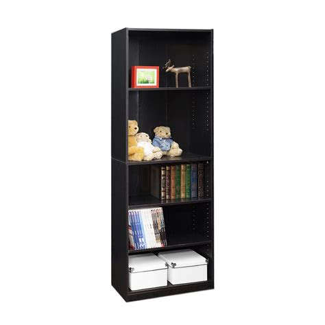 Black Open Bookshelf Furinno Jaya 5 Shelf Black Open Bookcase 14110r1bkw The