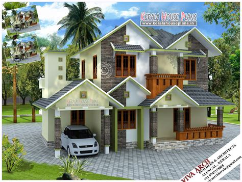 design of kerala style home kerala village style slope roof home design kerala house