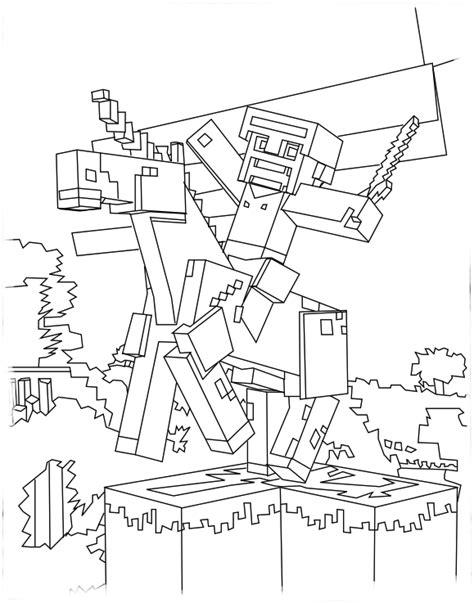 minecraft unicorn coloring page free minecraft unicorn coloring pages