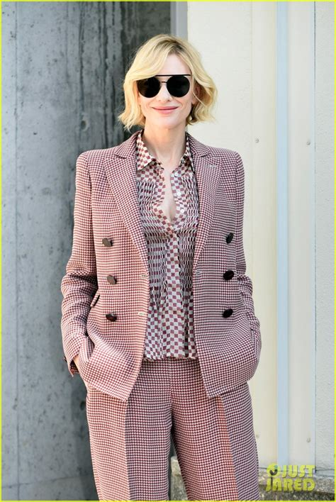 And Cate Blanchett At The Armani Fashion Show by Cate Blanchett Gets Chic For Armani Show During Milan