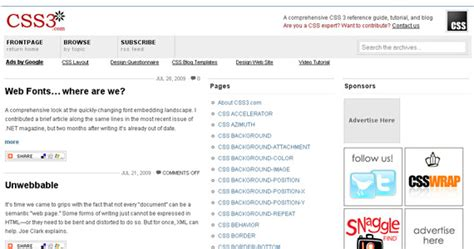css tutorial site 35 وب سایت که به شما می آموزد که چگونه از css استفاده نمایید