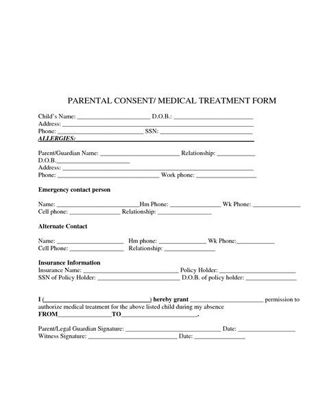 consent to treat form template best photos of consent for treatment template