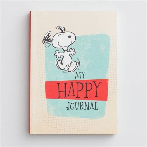 Be Happy Notebook peanuts happy notebook journal dayspring