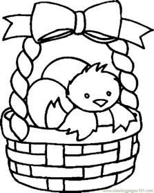 Free Coloring Pages Easter Basket L L L L L L