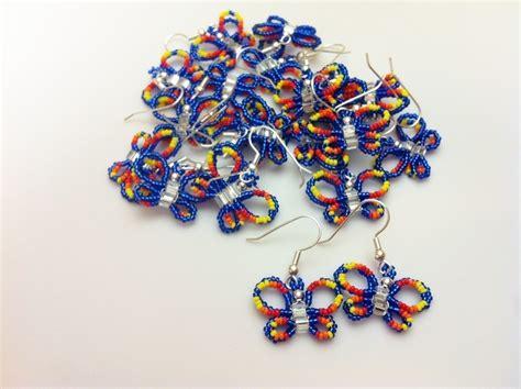 butterfly beaded earrings beaded butterfly earrigns 183 a dangle earring 183 beadwork