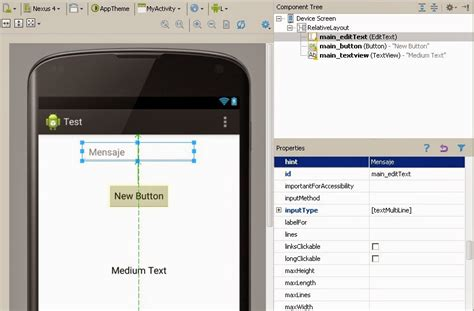 android studio edittext layout configurar layouts y views en android studio