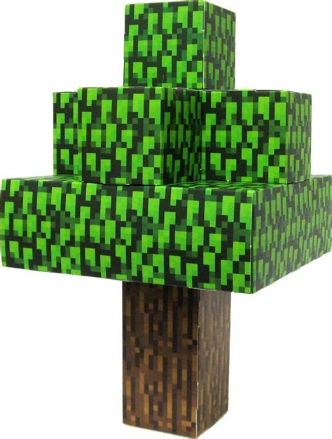 Tree Papercraft - minecraft jazwares papercraft oak tree toys