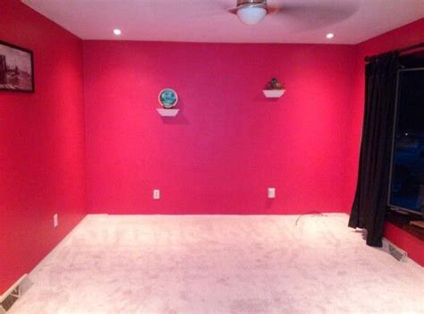 strawberry room new carpet and strawberry paint on walls living room project carpets