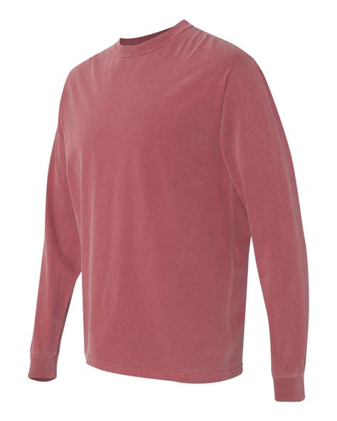 comfort colors long sleeve comfort colors garment dyed heavyweight ringspun long