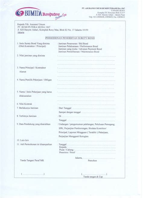sertifikat penjaminan proyek