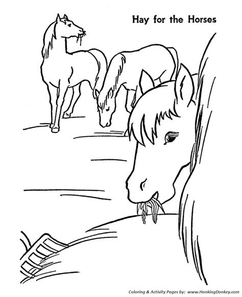 horse coloring pages printable hay is for horses
