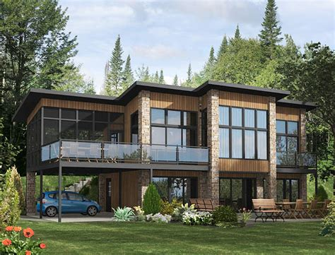 dramatic modern house by site dramatic contemporary home plan 90232pd 2nd floor