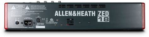 Allen Heath Mixer Live Zed18 allen and heath zed18 usb mixer 18 channel zzounds