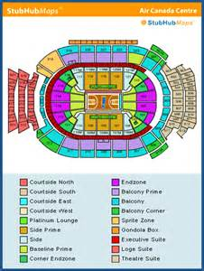 air canada center seat map seating plan air canada centre