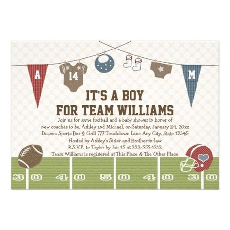 Co Ed Baby Shower Wording by Coed Baby Shower Invitation Wording Couples Co Ed Football Baby Shower Invitations From Zazzle