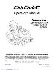 Cub Cadet Slt1554 Manuals