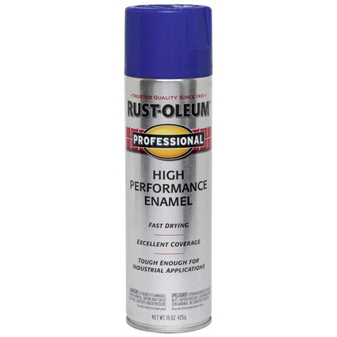 shop rust oleum high performance professional royal blue rust resistant enamel spray paint