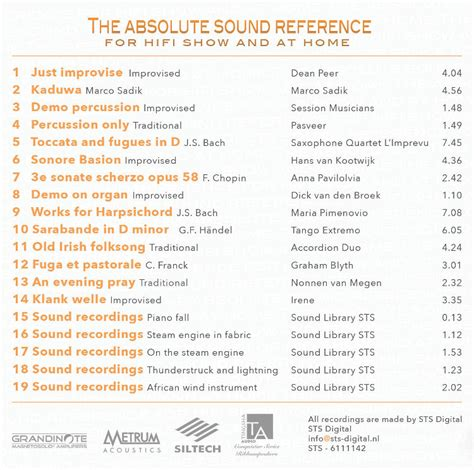 digital sts for card sts digital the absolute sound reference cd volume 1
