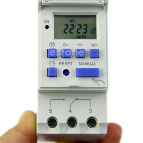 Timer Digital Programmable Listrik 220v 16a 2000 W Max buy wholesale din rail timer from china din rail