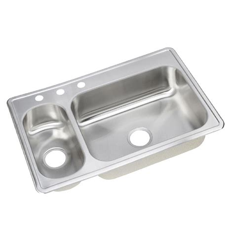 3 bowl stainless steel kitchen sinks kohler verse drop in stainless steel 33 in 4 hole double