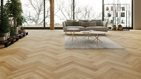 Laminat Vs Parkett by Natura Oak Matt Lacquer Herringbone Engineered Parquet