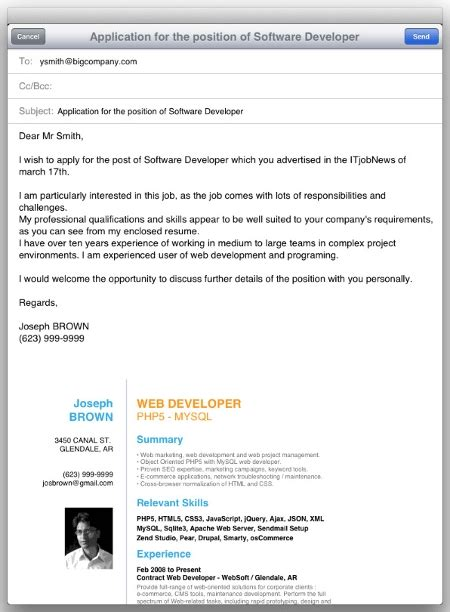 Email Resume by Sle Email To Send Resume Jennywashere