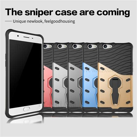Oppo F1s A59 Casing Back Soft Armor Hybrid Robot With Stand armor pc tpu hybrid with kickstand for oppo f1s a59 grey tvc mall