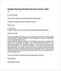 cover letter exles for nursing students sle nursing cover letter template 8 free