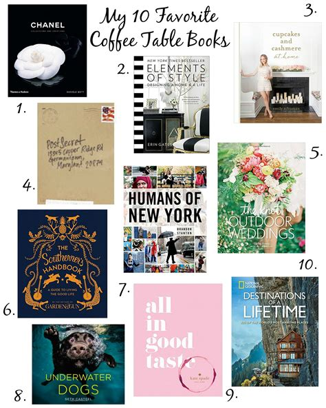 top 10 coffee table books coffee beans and bobby pins