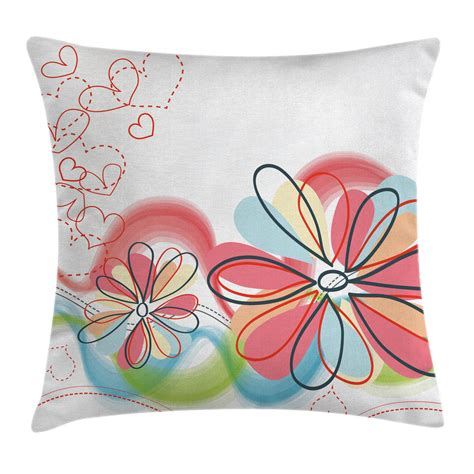 colorful pillow cases retro colorful throw pillow cases cushion covers ambesonne