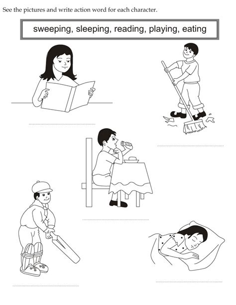 coloring page action words free coloring pages of action verbs