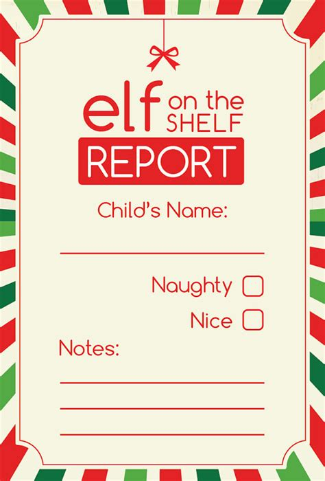 printable elf on the shelf warning letter elf report card digital printable elves shelves and 50th